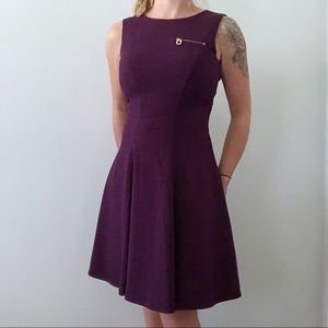 Calvin Klein Purple Fit and Flare Dress Size 4